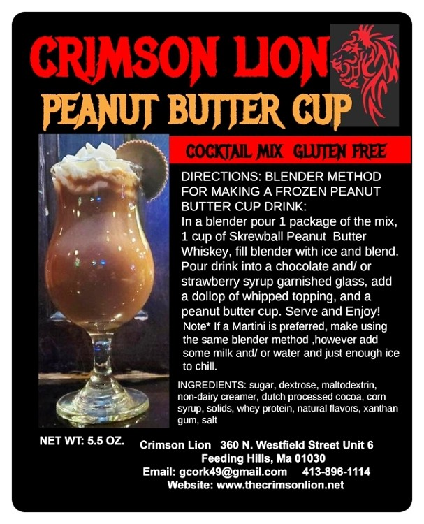 Peanut Butter Cup Cocktail Mix-NEW ; 2020. George Washington Carver would be proud. Smooth tasting Peanut flavor. Make a frozen drink or a Martini. Add Peanut Butter flavored Whiskey.